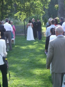 Wedding Ceremony Locust Grove