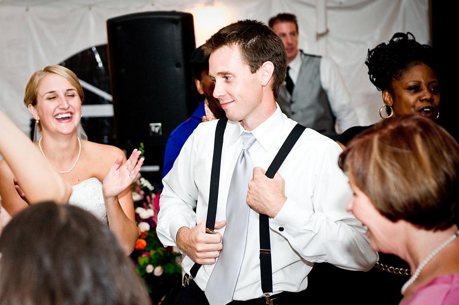 Groom Dancing Wedding Reception