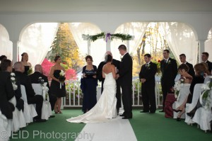 Hudson Valley wedding ceremony - Le Chamborde - music by DJ Domenic