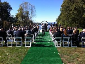 Wedding ceremony Hudson Valley Mills Mansion