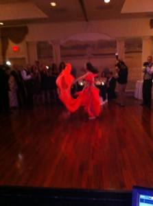 Belly dancing at husdon Valley wedding