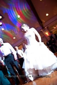 Bride Dancing Rolling Greens wedding