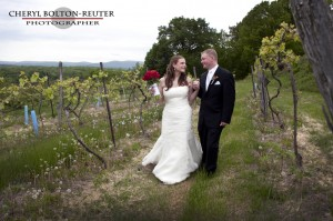 Brnmarl winery bride and groom