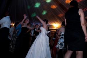 Bride Dancing Catlin Gardens Wedding