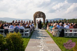 Hudson Valley wedding Ceremony The Garrison