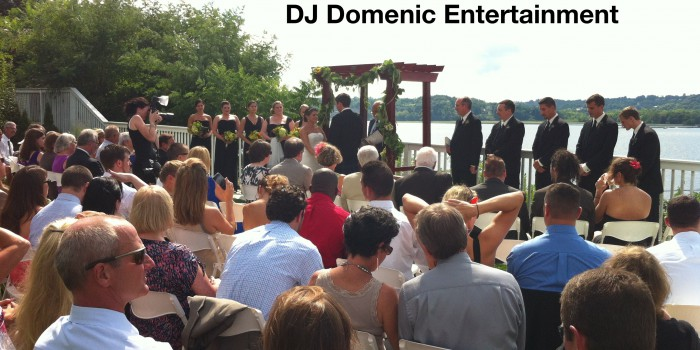Wedding ceremony at The Rhinecliff Hotel in Rhinecliff, NY