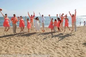 wedding party in Madison CT beach weddin