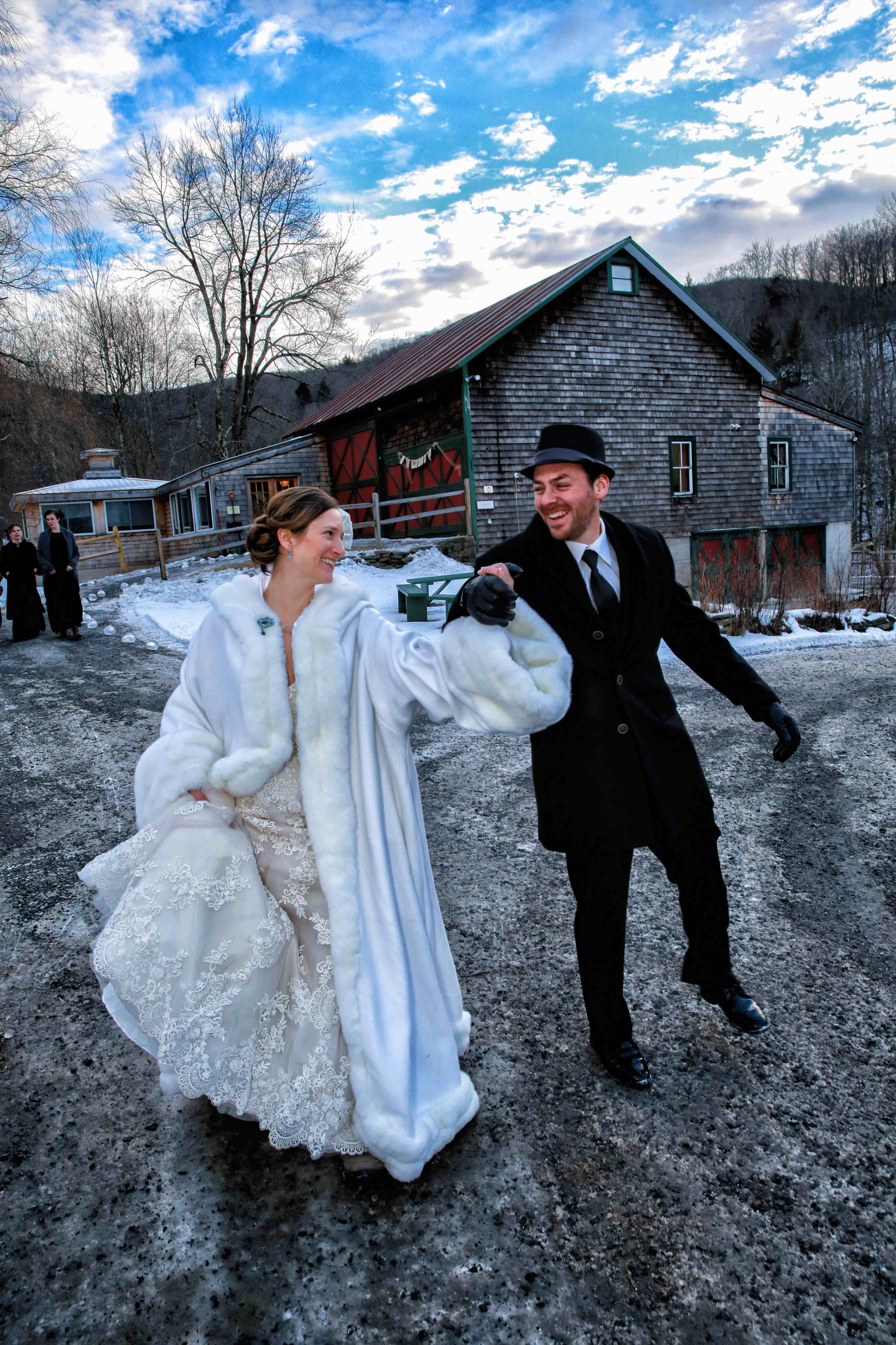 Winter Wedding At Full Moon Resort In Big Indian, NY