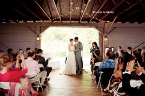 wedding ceremony at The Katterskill