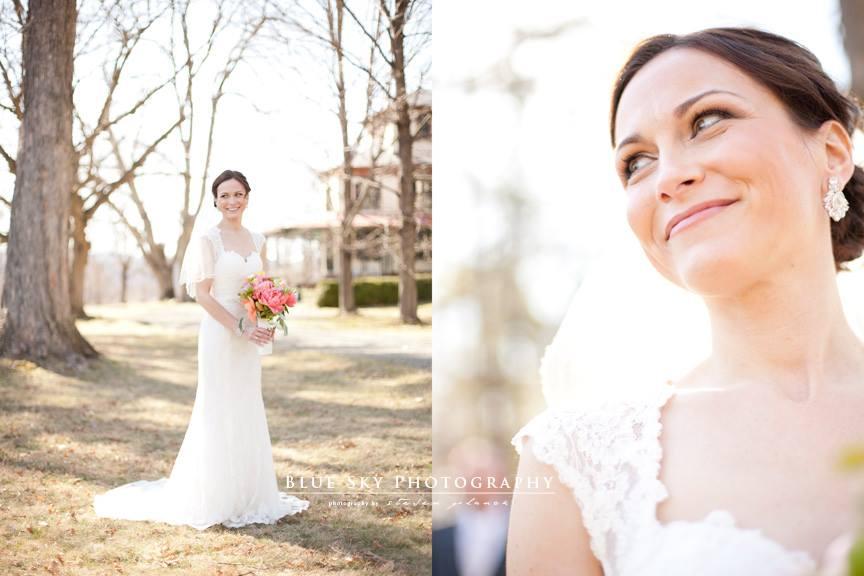 Locust Grove, NY wedding ceremony Bride poses for photo within Hudson Valley, NY  DJ Domenic Entertainment, Wedding DJ
