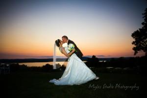 Dutchess Manor Wedding Sunset Beacon, NY